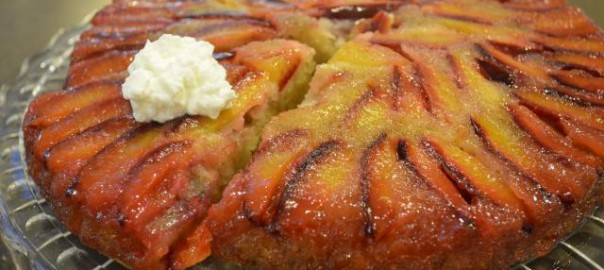 Plum Upside Down Buttermilk Cake