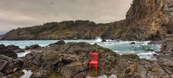 Red Chair In the Tide Pools
