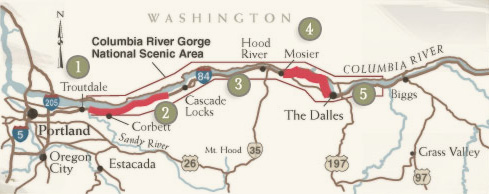 Historic Columbia River Highway Scenic Byway Map