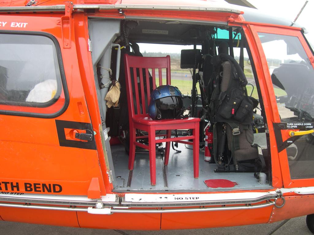 The US Coast Guard helicopter stationed at Newport Bay Oregon