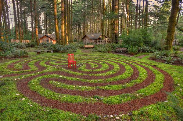 WildSpring Guest Habitat's walking Labyrinth