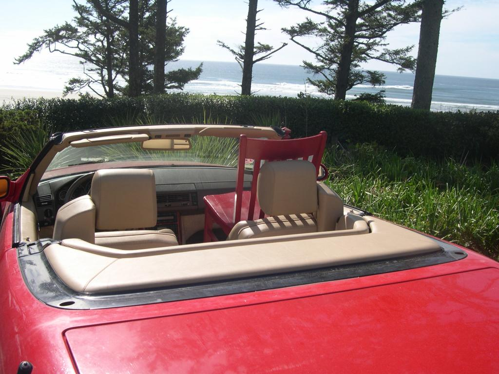 Touring the Oregon Coast in a Red Convertible